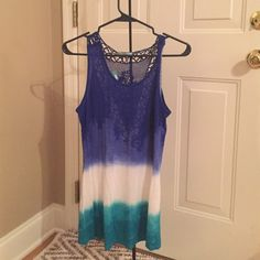 Maurices multi-color tank Maurices multi-colored tank top with beautiful back design. Size small. Maurices Tops Tank Tops