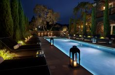 Outdoor Room with Pool by Lisa Holt DLS Hotels & Spas