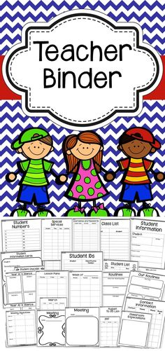 Stay organized throughout the entire school year with this teacher binder! This binder includes and editable version and editable binder covers!