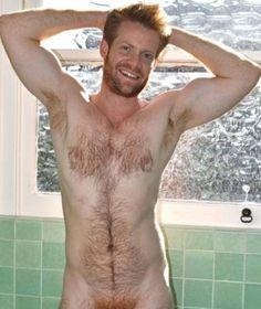 Hairy naked ginger men
