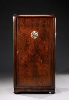Jules Leleu - Rare rosewood veneer Armoire circa 1925 | From a unique collection of antique and modern wardrobes and armoires at http://www.1stdibs.com/furniture/storage-case-pieces/wardrobes-armoires/