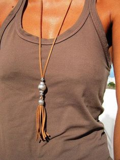 long leather necklace tassel necklaces bohemian jewelry boho necklace silver jewelry fashion jewelry - August 11 2019 at Leather Necklace, Boho Necklace, Leather Jewelry, Leather Tassel, Fashion Necklace, Collar Necklace, Leather Cord, Necklace Set, Nameplate Necklace