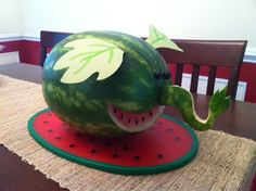 Watermelon Carving: Watermelophant from Cloudy with a Chance of Meatballs 2