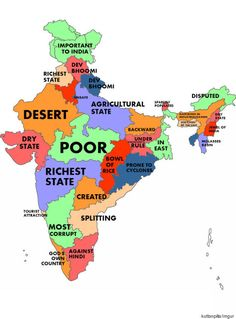 What The World Thinks Of Indian States Travel Maps, India Travel, India Map, Unity In Diversity, What The World, Thing 1, State Map, Historical Maps, News India