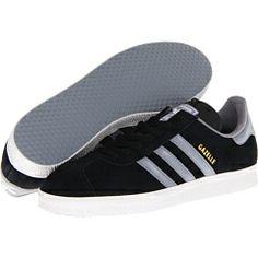 quality design f5579 449f2 Adidas originals gazelle black tech grey white at 6pm.com