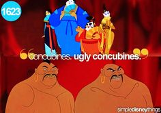 Ugly concubines...