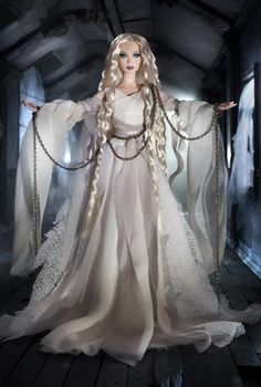 """""""Haunted Beauty"""" Ghost Barbie. RD:10/11/2012.  PC:W7819. Gold Label. (have)"""