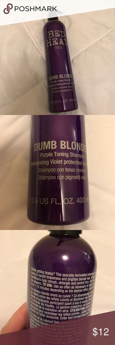 Brand new bed head purple shampoo Brand new. Never used. Full. BedHead Accessories Hair Accessories