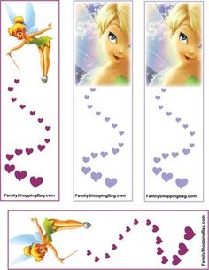 Tinker Bell, Tinker Bell & Peter Pan, Bookmarks - Free Printable Ideas from Family Shoppingbag.com