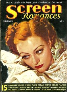Joan Crawford - Screen Romances Magazine - November, 1934.