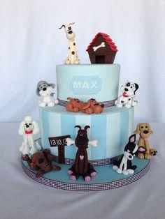 1000+ images about Dog Cake on Pinterest Fondant dog ...