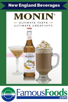 Monin has a great selection of flavors for cocktails and other beverages