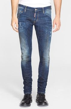 Dsquared2 'Midnight Thunder' Slim Fit Jeans (Blue) available at #Nordstrom