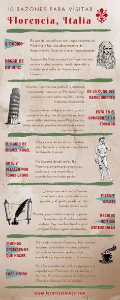 Infografía 10 razones para visitar Florencia italia