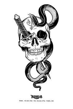 Mike giant skulls #inspiration #illustration #skull