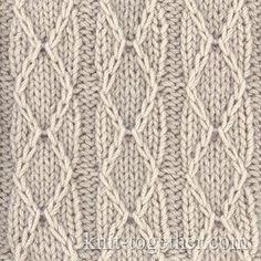 Diamonds and Stripes Stitch Pattern