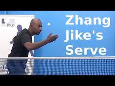 Zhang Jike's Serve | Table Tennis | PingSkills - YouTube