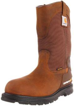 Carhartt Men's CMP1100 11 Wellington Work Boot,Bison Brown Oil Tan,11 M US Leather Work Boots.  #Carhartt #Shoes