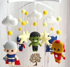 Your place to buy and sell all things handmade Boy Mobile, Felt Mobile, Baby Crib Mobile, Baby Cribs, Baby Decor, Nursery Decor, Diy Christmas Wedding, Baby Spa, Adult Crafts