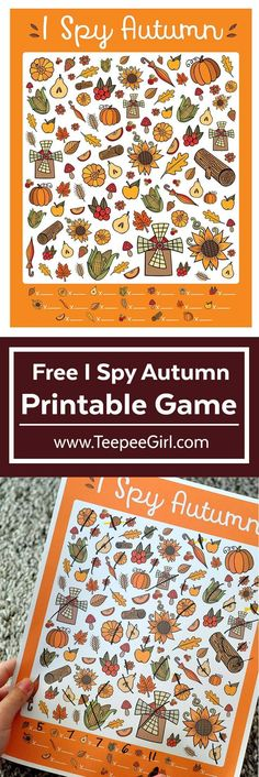 Free I Spy Autumn Printable Game