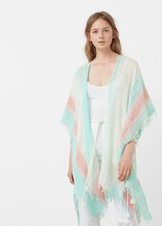 Latest trends in women's fashion. Discover our designs: dresses, tops, jeans, coats and shirts. Beachwear For Women, Tassels, Latest Trends, Mango, Kimono Top, Cover Up, Culture, Coat, Shirts