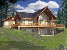 Mountain house plans on pinterest mountain houses house Vacation house plans sloped lot