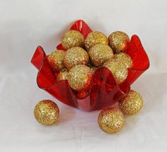 Vintage Gold Christmas Ornaments  Set of 22 by AbslewtlyVintage, $20.00