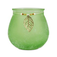 The Pomeroy Collection Green Brandy Pillar Holder With Jewelry