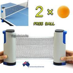 Retractable, can be extended up to 1.8m long. Portable and lightweight, ideal for table tennis enthusiasts. Can clip on any table board which thickness less than 5cm, and turn it into a tennis table. | eBay!