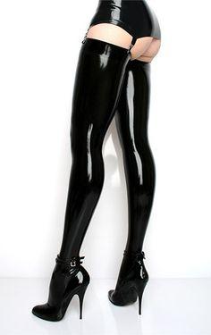 Latex stockings & heels