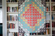 Blue is Bleu: Geometric Tribal Baby Quilt... Maybe?