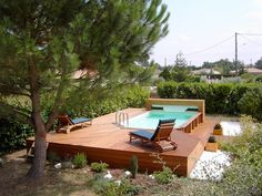 Small pools: 9 models that can be implemented without a large budget homify Mini Piscina, Piscina Spa, Above Ground Pool Decks, In Ground Pools, Swimming Pools Backyard, Backyard Landscaping, Pool Landscape Design, Small Pools, Outdoor Furniture Sets