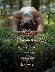 yoga pose so peacefully deeply into forest moss - grounded indeed ; ) (Namaste: the longest journey of any person is the journey INside) Yoga Meditation, Meditation Practices, Namaste Yoga, Meditation Quotes, Healing Meditation, Yoga Flow, Hatha Yoga, Sup Yoga, Restorative Yoga