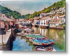 Polperro Metal Print featuring the photograph Cornish Smuggler Jewel by Hanny Heim