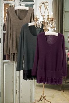 Provence Pullover - Pullover Sweater, L:ayered Look Sweater, French Sweater | Soft Surroundings