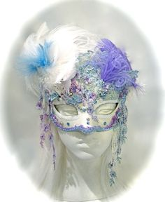 Peasblossom's Masquerade Mask Marie Antionette by Marcellefinery