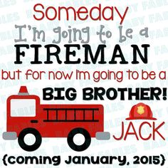 Iron on Transfer  Fireman or Police Man  Big Brother by babyfables, $5.00