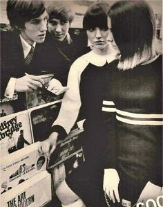The record section in John Stephen's shop MAN in Carnaby Street, 1964