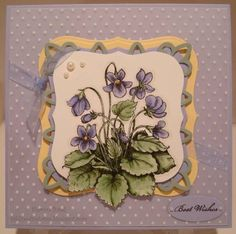 FTTC30 - Sweet Violets by hilnick - Cards and Paper Crafts at Splitcoaststampers