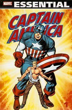 Essential Captain America Volume 1. Cover by Jack Kirby. #CaptainAmerica #JackKirby