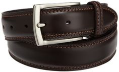 Dockers Mens 35mm Feather Edge Belt With Two-row Stitch, Brown, 46 Dockers. $21.00. Wash by hand with damp cloth. Double row stitching on belt and loop. Dockers wing logo under loop. Made in China. 100% leather. Save 25%!