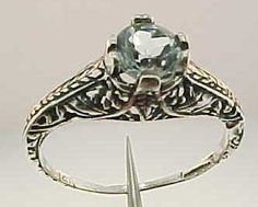 Estate Aquamarine Ring - Size 5