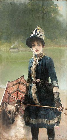 "Vittorio-Matteo Corcos (1859-1933), ""A summer stroll""   Flickr - Photo Sharing!"