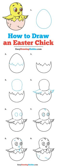 Learn How to Draw an Easter Chick: Easy Step-by-Step Drawing Tutorial for Kids and Beginners. #EasterChick #DrawingTutorial #EasyDrawing See the full tutorial at https://easydrawingguides.com/how-to-draw-an-easter-chick/.