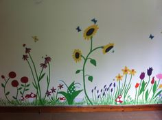 Flower mural in Lily's room