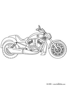 Harley-Davidson Coloring Pages to Print | Harley Davidson motorcycle coloring page