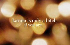 The way karma works