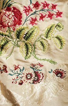 dress details 1780   Detail: Dress, ca. 1780, British, silk. The Met