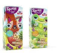 "Juice for kids ""Sprett"" Cute. Kids Packaging, Packaging Design, Branding Design, Food Design, Dog Cat, Juice, Packing, House Design, Graphic Design"
