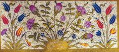 Turkish lale deseni - Google'da Ara Illumination Art, Turkish Tiles, Plant Drawing, Pointillism, Animal Fashion, Illuminated Manuscript, Diy Projects To Try, Islamic Art, Pattern Art